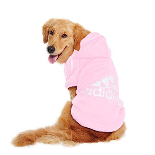 Katzen Haustiere Kleidung Hoodie Golden Retriever French Bulldog Pudel Mops Sports Fashion Cool Uni Herbst Winter Warm T-Shirts Jacken Kostüm (7Farben voller Größe xs-9X L) (Golden Retriever-kostüm)