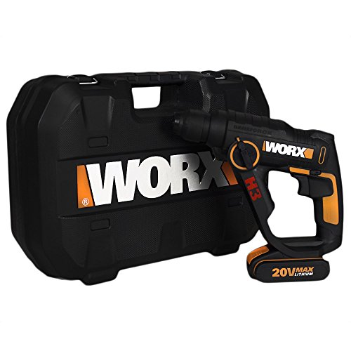 The WORX WX390 Rotary Hammer is efficient and at first seems to have it all.  It is a lightweight that is perfect for small jobs around the house.