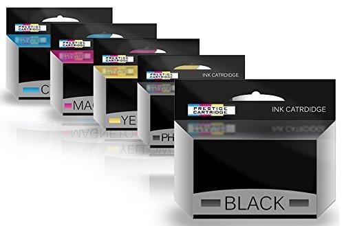 Neue Kompatible Pigment (Prestige Cartridge Set 5 XXL Tintenpatronen kompatibel für Canon PGI-580XXL CLI-581XXL Pixma TR7550 TR8550 TS6150 TS6151 TS8150 TS8151 TS8152 TS9150 TS9155 | pigmentschwarz schwarz Cyan Magenta gelb)