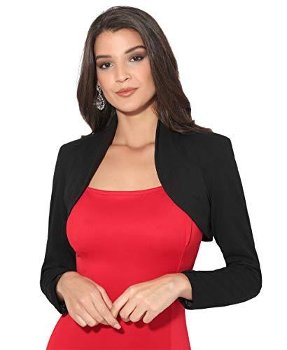Krisp bolero donna festa elegante moda nero (2769) 44