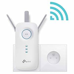TP-Link RE450(FR) Répéteur - Point d'accès Wi-Fi AC 1750 Mbps - 1 Port Gigabit - Compatible avec toutes les box internet