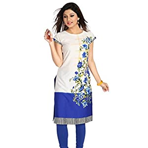 Women's Kurti Poly Crepe Tunic V's Fashion Point Rainy Season Collection