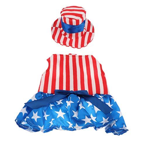 B Blesiya Haustier Amerika Flagge Partei Kostüm Für Hunde und Katzen - ()