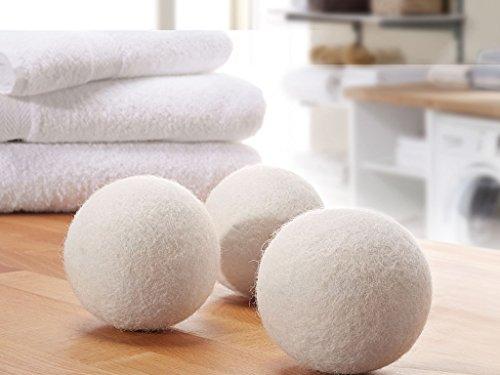 Trocknerbälle & Trocknerkugeln aus 100% echter Neuseeland-Wolle (3) - schonender Weichspüler