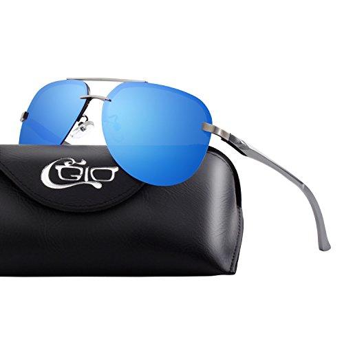 CGID Polarisierte UV 400 Schutz Spiegelnde Prämie Al MG Tempel Rahmenlos Aviator Sonnenbrille...