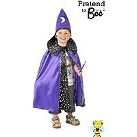 Stregone di Halloween con Cappello Costume, Travestimento 3-7 anni