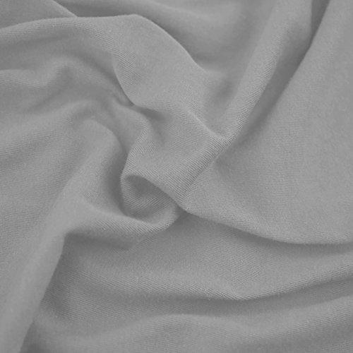 prezzo DecoKing Lenzuolo sotto con angoli elasticizzati 100% jersey in cotone, Amber Collection, 140×200-160×200 cm, Grigio acciaio