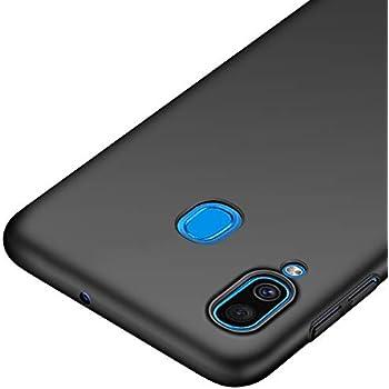 Richgle Coque Samsung Galaxy A30, Noir Très Mince Protection Coque Étui Housse Rigide Case Cover