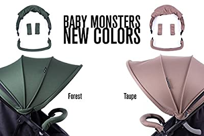 NUEVA Silla GEMELAR Easy Twin de paseo Baby Monster - Color TAUPE