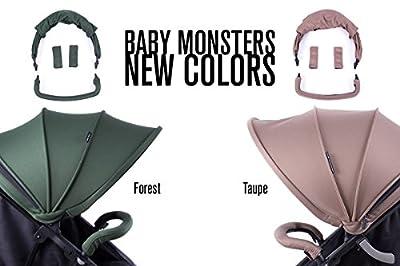 NUEVA Silla GEMELAR Easy Twin de paseo Baby Monster - Color Forest