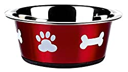 Classic Pet Products Classic Posh Paws Dish, 900 ml, Red