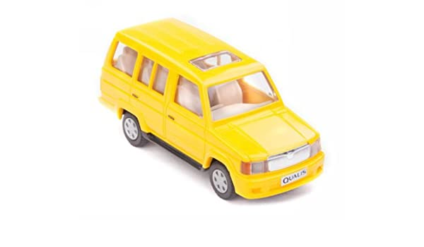 701809e750 Buy Centy QUV 2.4 Qualis SUV Car Miniature Pull Back Action Toy (Yellow)  Online at Low Prices in India - Amazon.in