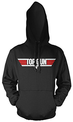 Uglyshirt87 Top Gun Männer und Herren Kapuzenpullover | Spruch Bada Bing Kult Geschenk (L, Schwarz)