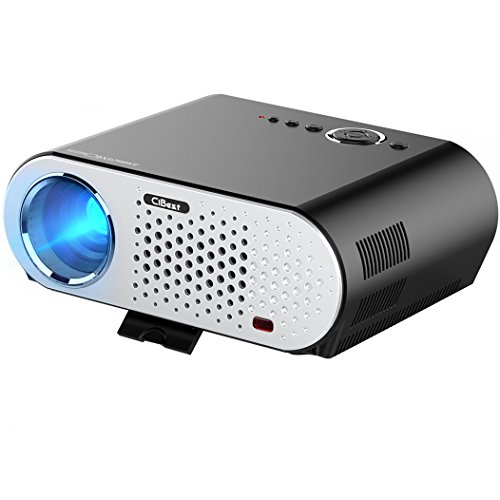 CiBest Protable LCD Projector HD 1080p 3200 Lumen LED Multimedia Projector