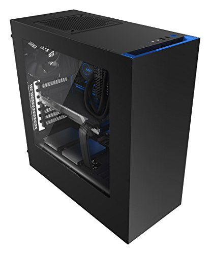 NZXT Source 340 Midi-Tower Case - Blue Window lowest price