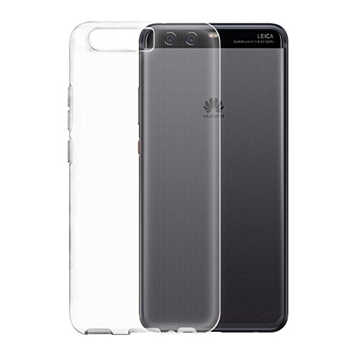 Cadorabo Hülle für Huawei P10 Plus - Hülle in VOLL TRANSPARENT - Handyhülle aus TPU Silikon im Ultra Slim 'AIR' Design - Silikonhülle Schutzhülle Soft Back Cover Case Bumper