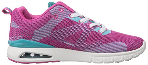 British Knights DEMON, Low-Top Sneaker uomo Rosa (Fuchsia/Turquoise 03)
