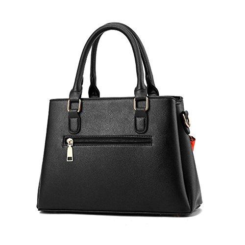Toopot Frauen Schultertaschen Top-Handle Handtasche Tote Geldbörse Tasche Mode Umhängetasche WEIN ROT