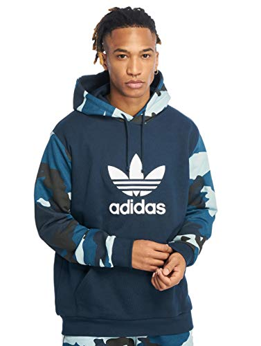 Adidas Originals Trefoil Hoody (adidas Originals Herren Hoodies Camo OTH blau L)