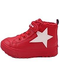 2193e4fed024cc WLITTLE Jungen Mädchen Winterschuhe Kinderschuhe Sneaker Boots Winterschuhe  mit Wasserdichter Unisex Sportschuhe Winterstiefel…