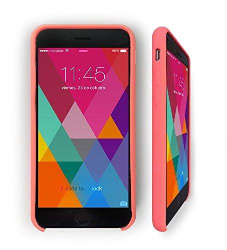 iPhone 6 PLUS 6S PLUS (5,5 Zoll) Hülle - KHOMO® Schutzhülle Silikon Case für Apple iPhone 6 PLUS und 6S PLUS - Rosa Rosa