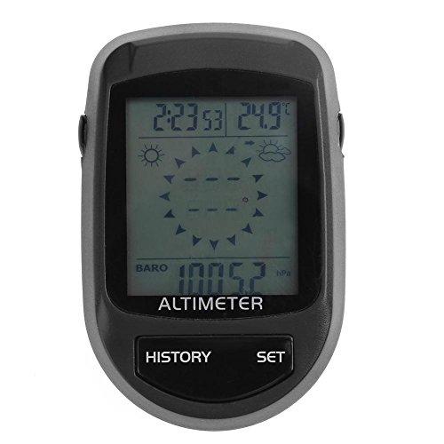 everpert 8in 1Fahrrad elektronischer Kompass Höhenmesser Barometer Thermometer Wettervorhersage Zeit