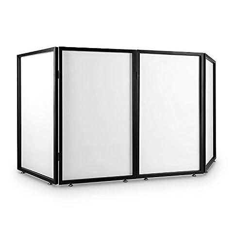 FrontStage Facade 4 Ecran DJ (cadre métallique carré solide avec quatre pieds à hauteur réglable, construction pliable en quatre segments et deux pièces)