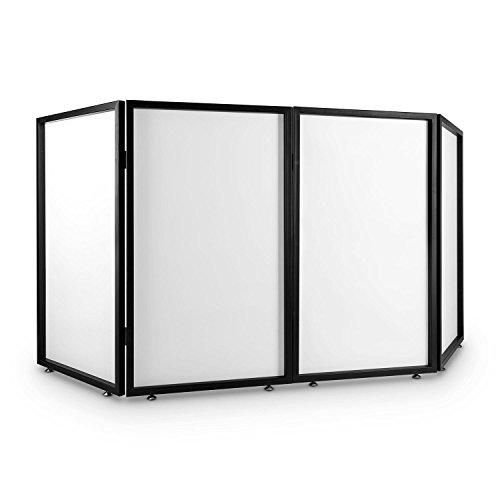 FrontStage Facade 4 cabina metálica para DJ (4 paneles traslúcidos,