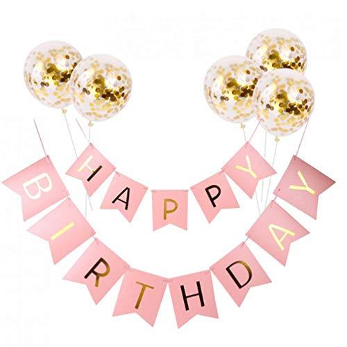 Alles Gute zum Geburtstag Banner Konfetti Luftballons Set Briefe Banner-Geburtstags-Party-Dekorationen Mädchen-Junge-Kind-Partei-Bevorzugungen