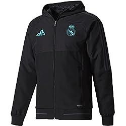 adidas PRE JKT Chaqueta Real Madrid CF Temporada 2017/2018, Hombre, Negro (Gripur), XS