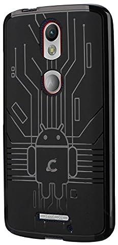 Moto X Force Case, Cruzerlite Bugdroid Circuit Case Compatible for Motorola Moto X Force - Black