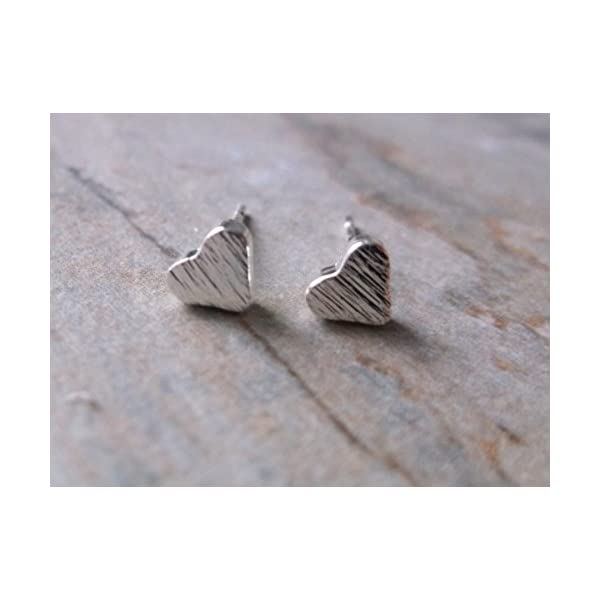 Gifts for Her, Silver Plate Small Heart Stud Earrings 41KOCJdN3gL