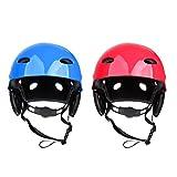 Gazechimp Wassersporthelm - Wassersport Kopf Schutzhelm - geeignet für 55-61cm Kopfumfang 2er