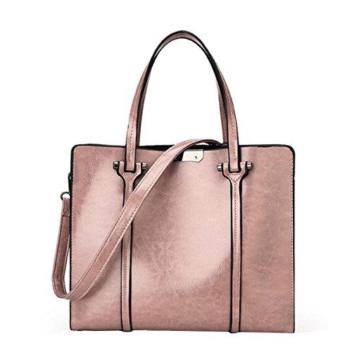 Nai Li Sacchetto Di Spalla Delle Donne Borsa Casuale Impermeabile Alla Moda Retro Semplice Grande Signore Pink