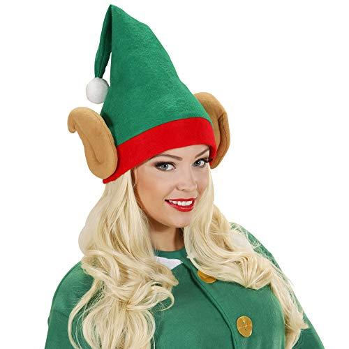 WIDMANN 5374E - Cappello da Elfo con Orecchie, Taglia Unica