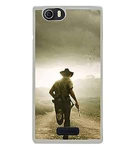 Fuson Designer Back Case Cover for Micromax Canvas Nitro 2 E311 (Cowboy Manly Pistol Gun Hunting)