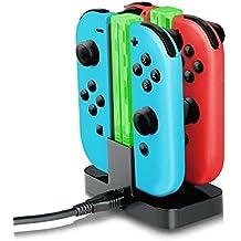 BCLA Joy-Con cargador, Nintendo Switch Joy-Con de carga de base de muelle 4-Controladores con cargador de luz
