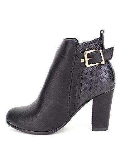 Cendriyon, Bottine noire FILING Mode Chaussures Femme