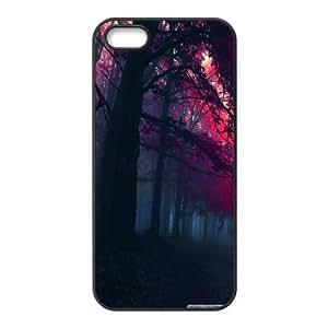 Dustin Red Autumn 3 IPhone 5,5S Cases, [Black]