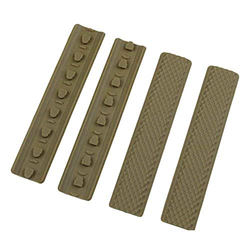 OAREA 4 Stück Tactical KeyMod Gummi Soft Rail Cover Keymod Rail Panels EIN Typ -