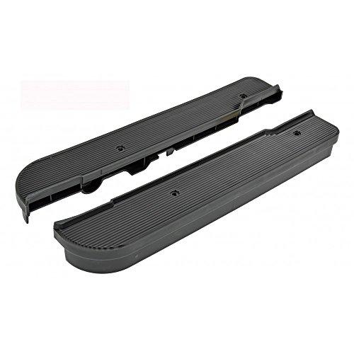 Trittbrett Set/Abdeckung schwarz RMS für Piaggio/Vespa SI Ref. 228989