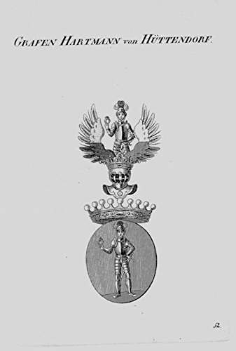 Hartmann Hüttendorf Wappen Adel coat of arms heraldry Heraldik Kupferstich