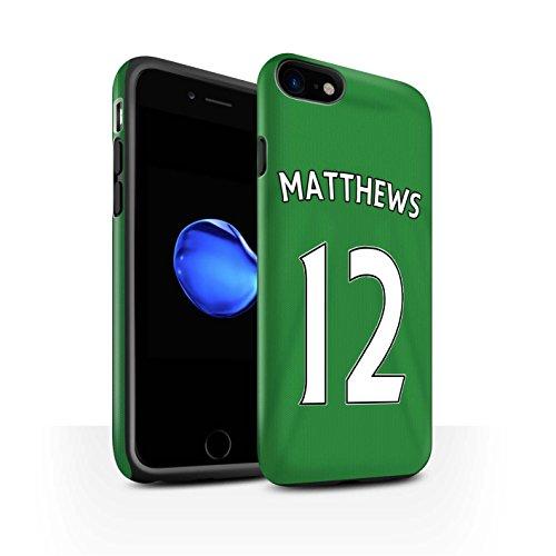 Offiziell Sunderland AFC Hülle / Matte Harten Stoßfest Case für Apple iPhone 7 / Jones Muster / SAFC Trikot Away 15/16 Kollektion Matthews