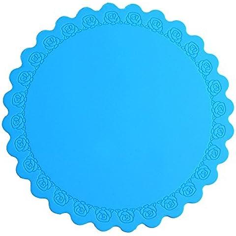 almohadilla de silicona aislamiento, esteras de mesa redonda, la almohadilla de plato placa, montaña, pista cuenco, cojín anti-caliente ( Tamaño : 2