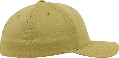 Flexfit Wooly Combed - 6 Panel Unisex Baseball Cap in 28 Farben, für Erwachsene und Kinder Curry