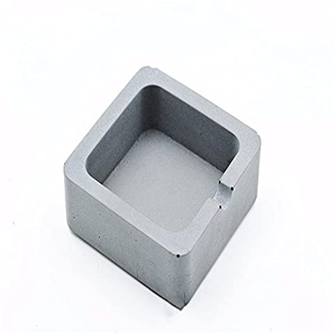 Concrete modern simple industrial wind cement square ashtray