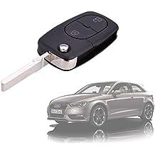 Carcasa para llave coche con control remoto compatible con AUDI A2 (2 botones)