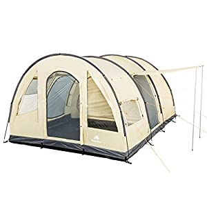 campfeuer - big tunnel-tent, ecru/grey, 5000 mm