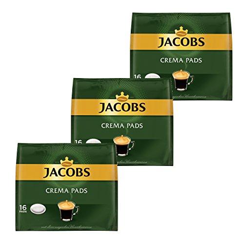 Jacobs Kaffeepads Crema Pads, Klassisch, Samtiger & Weicher Geschmack, Kaffee, 48 Pads
