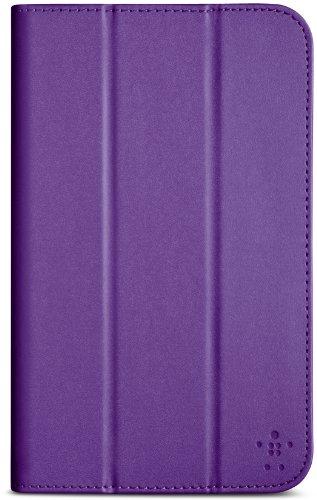 Belkin Tri-Fold Folio (magnetverschluss, Auto-wake, geeignet für Samsung Galaxy Tab 4 bis (7 Zoll)) lila